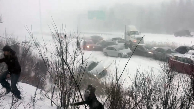 Winter storm paralyzes eastern Canada, six dead