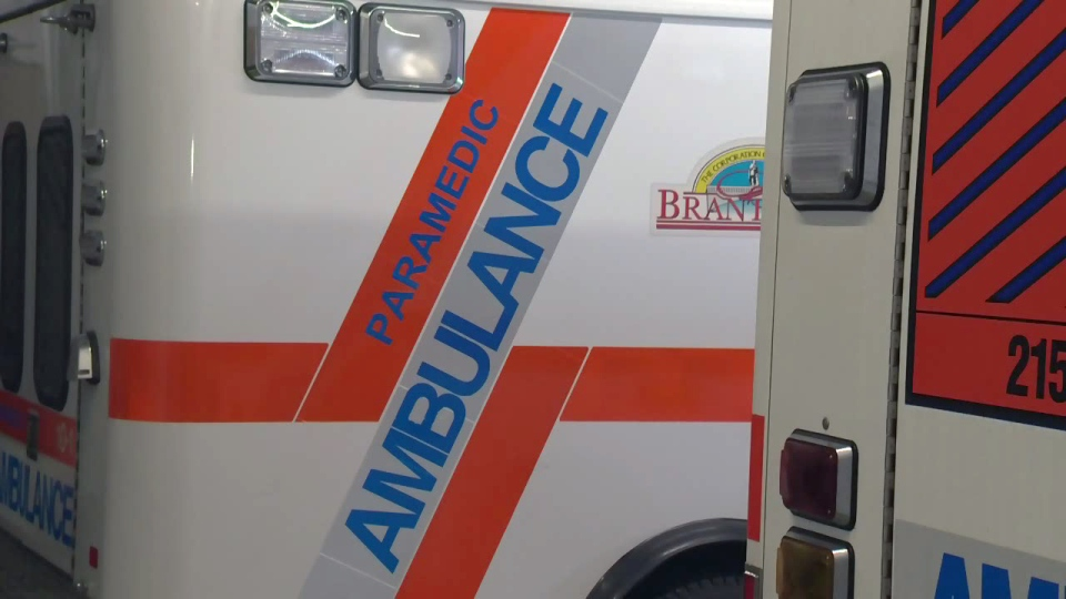 Brantford-Brant ambulances are pictured on Tuesday, March 14, 2017.