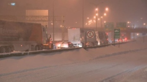 Drivers were left stranded overnight on Highway 13