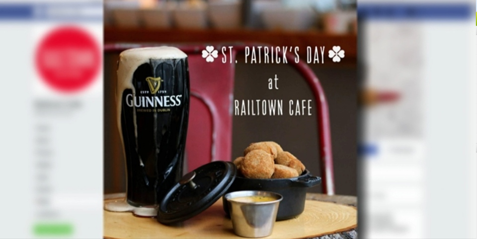 Railtown Cafe in Vancouver received online backlash for an advertisement with badly poured pint of Guinness.