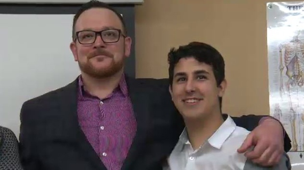 Lane Burman and Dylan Duncan are seen in this image taken from video.