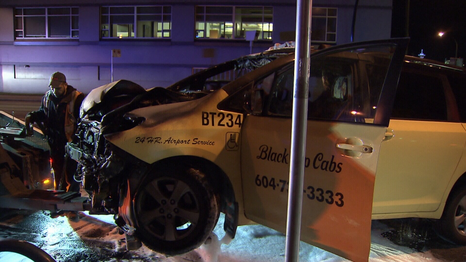 Man charged after taxi-jacking, fiery crash in Vancouver | CTV ...