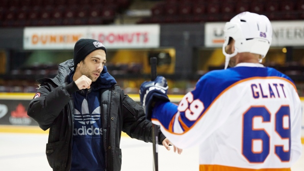 Director Jay Baruchel on the set of Goon  Last of the Enforcers 4d38fe61a7b2