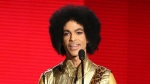 Prince presents the award for Favorite Album - soul/R&B at the American Music Awards in Los Angeles on Nov. 22, 2015. (Matt Sayles / Invision)