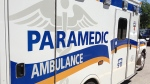 An ambulance for the County of Simcoe Paramedic Services can be seen in this undated photo. (CTV Barrie)