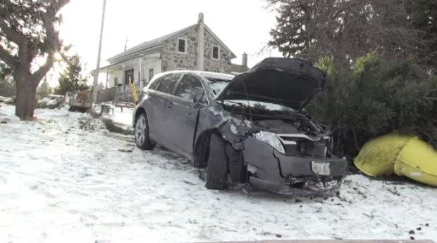 st agatha car vs mailbox crash