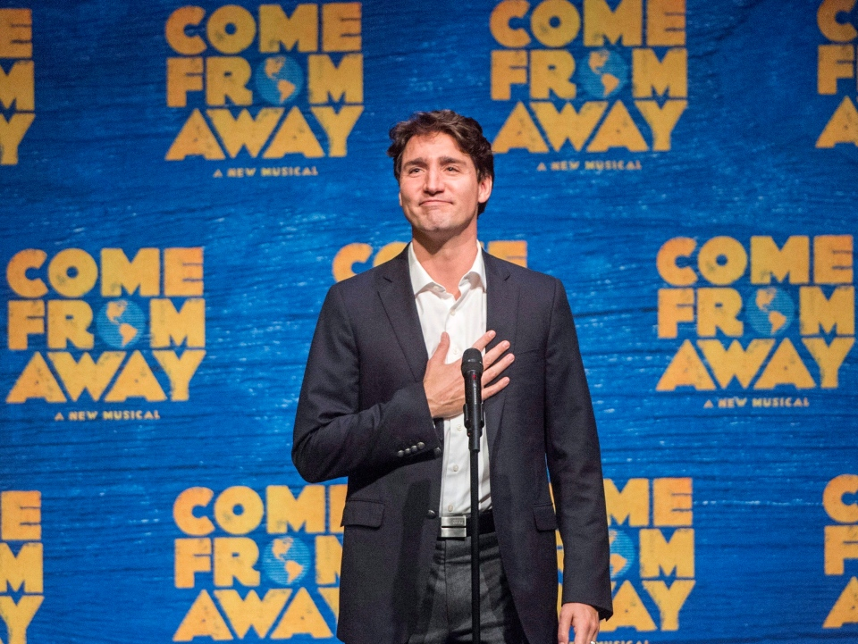 Trudeau at Come From Away