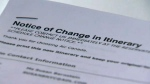 Air Canada  itinerary change - Susan Bernstein