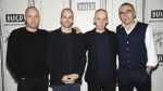 Actors Ewan McGregor, left, Jonny Lee Miller and Ewen Bremner pose with director Danny Boyle, right, backstage at the BUILD Speaker Series in New York to discuss the film, 'T2 Trainspotting,' at AOL Studios on Tuesday, March 14, 2017. (Evan Agostini / Invision)