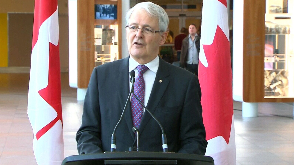 Transportation Minister Marc Garneau makes an announcement in Toronto, Thursday, March 16, 2017.