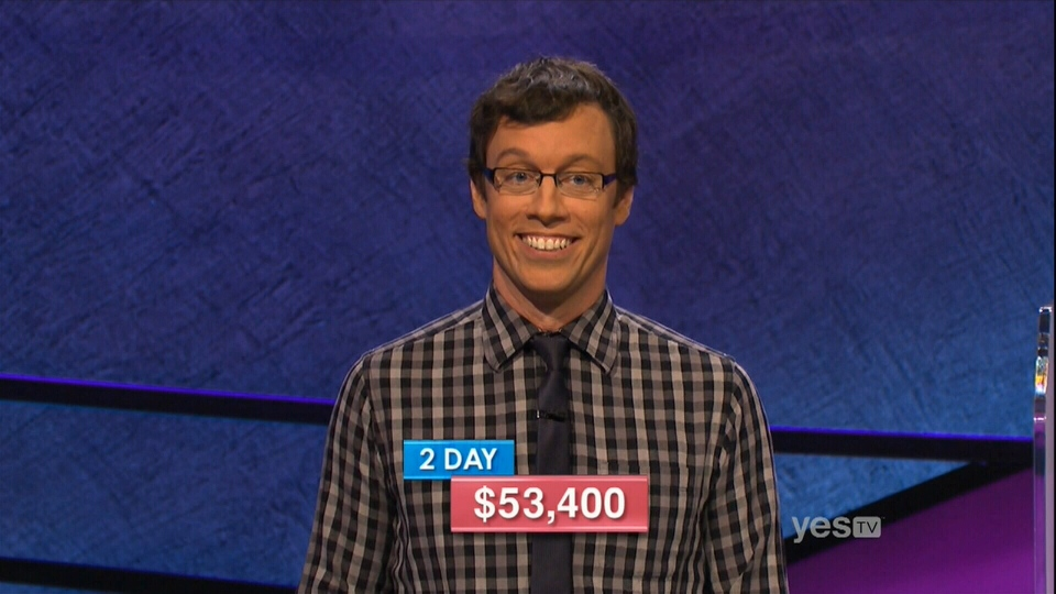 Ottawa's own Grant McSheffrey is going for a third Jeopardy! win Thursday night. (Sony Pictures Entertainment)