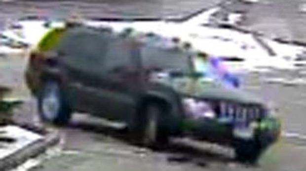 An older model Jeep Grand Cherokee believed to be the getaway vehicle in a March 14 homicide in Woodbridge is shown. (YRP)