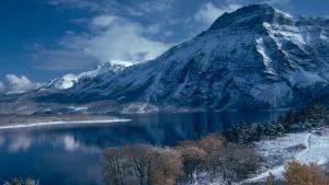 This undated photo provided by Kilmorey Lodge shows Vimy Mountain and Waterton Lake from Waterton Lakes National Park, Alberta, Canada. (AP Photo/Kilmorey Lodge)