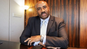 Sen. Don Meredith speaks to The Canadian Press in this still frame taken from video. (The Canadian Press)