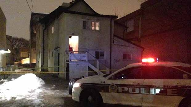 Police were called to a house at 288 Langside Street around 1:30 a.m. (Source: Stephanie Tsicos/CTV News)