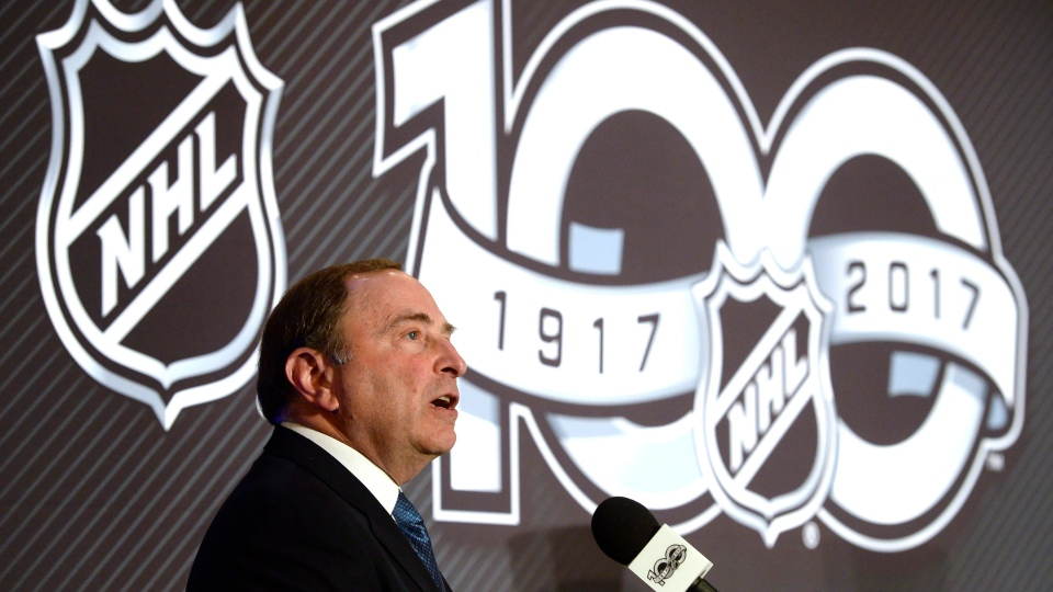 NHL commissioner Gary Bettman speaks at a news conference in Ottawa on Friday, March 17, 2017. (Adrian Wyld/THE CANADIAN PRESS)