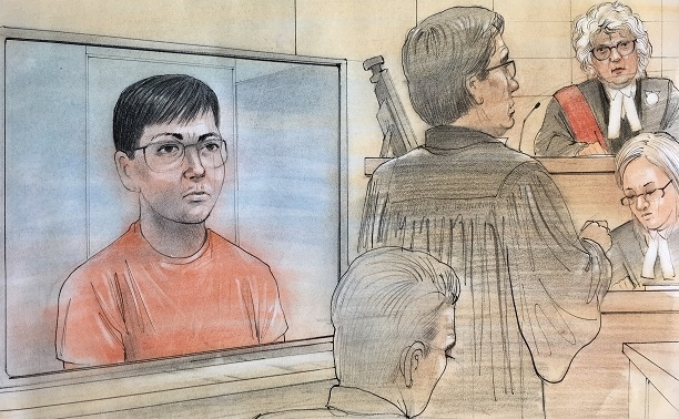 A Canadian man arrested as one of four suspects in a massive hack of Yahoo emails appeared in court on March 17, 2017. (Courtesy / John Mantha)