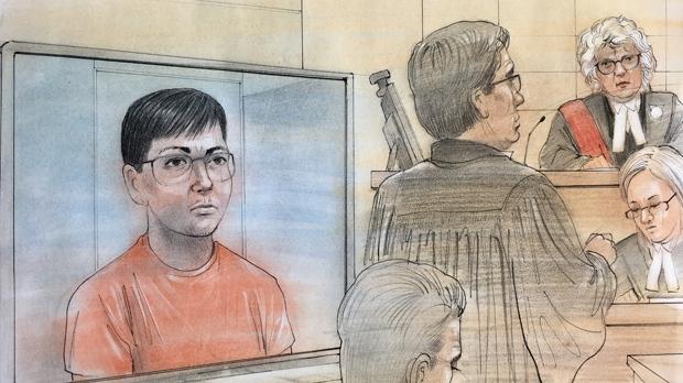 Karim Baratov, 22, appears via video link in a Hamilton courtroom on March 17, 2017. (John Mantha)