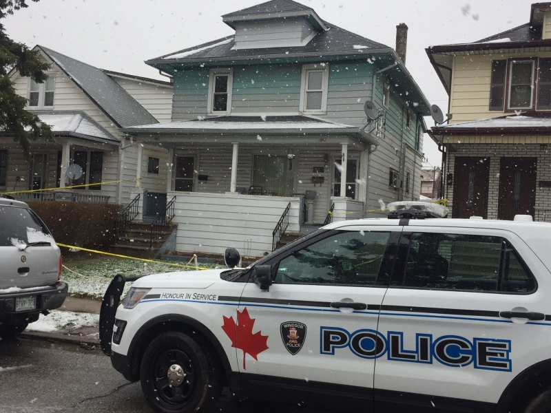 Windsor police are investigating a fatal shooting on Elsmere Avenue on Saturday, March 18, 2017. (Alana Hadadean/CTV Windsor)