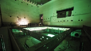 This picture taken on February 21, 2017 shows visitors during a tour of the 816 Nuclear Military Engineering installation in the mountains of Fuling district, in southwest China's Chongqing Municipality. It was a top-secret Chinese nuclear facility with a deadly Cold War mission -- to make plutonium for an atomic bomb -- but these days its doors are wide open as a tourist attraction. (WANG ZHAO / AFP)