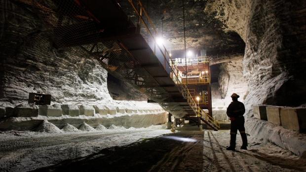 Goderich salt mine