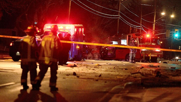 Police are investigating a fatal crash in York Mills this morning. (John Hanley/ CP24)