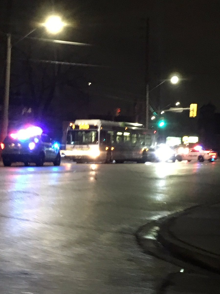 Windsor police investigate an altercation on a city bus that left one person in serious condition on Saturday, March 18, 2017. (Twitter / @mailhot85)