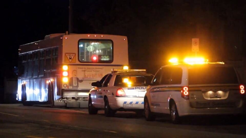 The incident took place at 7:45 p.m. Saturday, at a stop for the 326 bus on 140th Street near 90th Avenue.