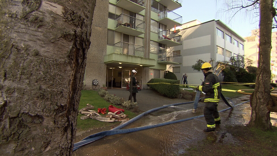 Firefighters were called to the building on Barclay Street for reports of smoke and flames on the fifth floor. (CTV)