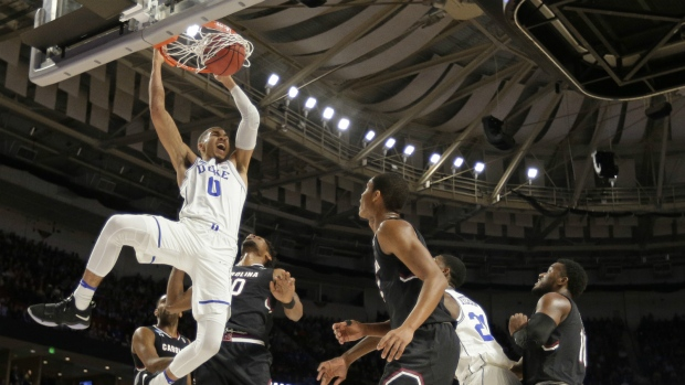 Duke upset by South Carolina