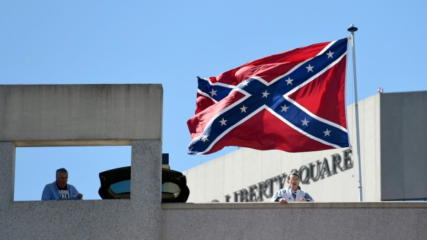 Confederate flag in Greenville, S.C.