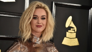 Katy Perry at the 59th annual Grammy Awards