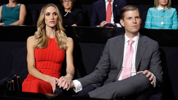 Eric Trump, right, and his wife Lara