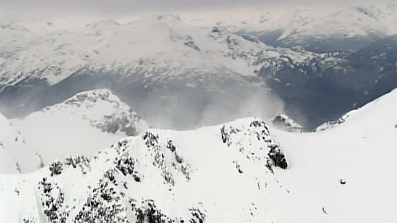 Avalanche caused by out-of-bounds skiers