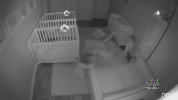 baby monitor catches secret twin party ctv toronto news. Black Bedroom Furniture Sets. Home Design Ideas