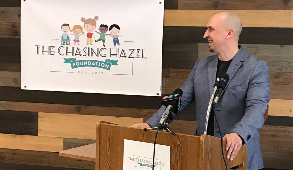"Matt and Stephanie Seguin have launched the ""Chasing Hazel Foundation"" in Windsor, Ont., on Monday, March 20, 2017. (Angelo Aversa / CTV Windsor)"