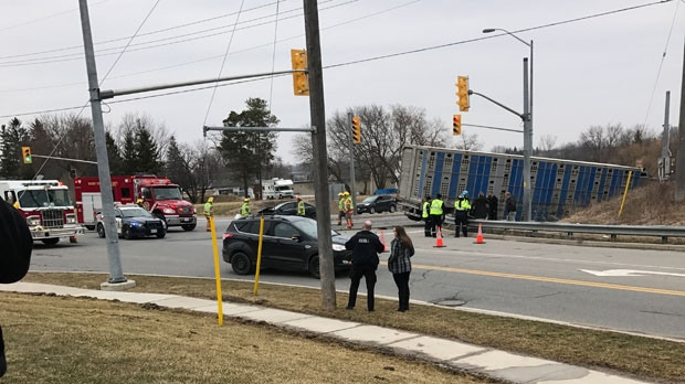 A woman working near the site of the crash took this photo. (Source: Shania Hohl)