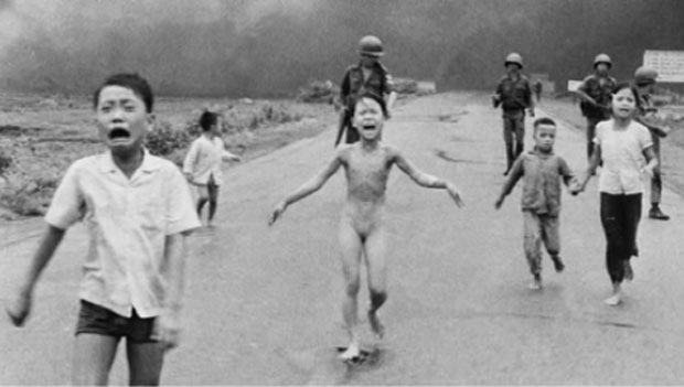 This photo became famous as an example of the horrors of the Vietnam War.