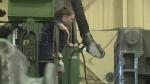 CNC Machinist Delina Rees in Windsor, Ont. (Sacha Long / CTV Windsor)