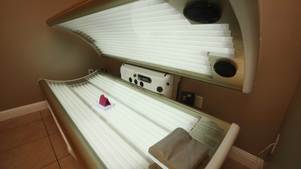 This Dec. 9, 2011 file photo shows an open tanning bed in Sacramento, Calif. (AP / Rich Pedroncelli, File)