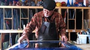 Hossein Gahniabadi is a stained glass artist in Regina. (JAMIE FISCHER/CTV REGINA)