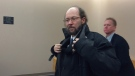 Kenneth Harrisson is shown at provincial court in St. John's, N.L., on Tuesday, March 21, 2017. (Sue Bailey / The Canadian Press)