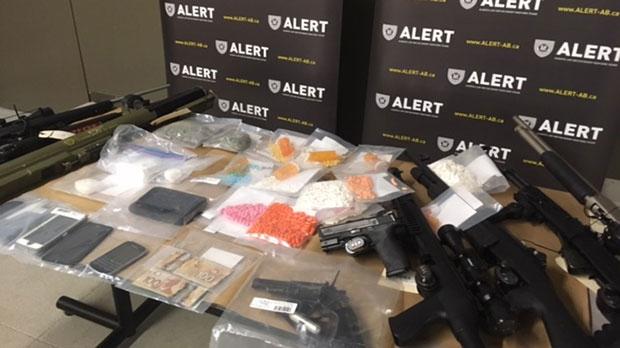 drugs, guns, ALERT, southern Alberta busts, handgu