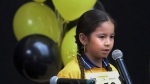 "A still photo from the documentary ""Bee Nation"" is shown in a handout photo. A film about Saskatchewan students competing in the first provincewide First Nations Spelling Bee will help kick off this year's Hot Docs Canadian International Documentary Festival. (THE CANADIAN PRESS/HO-Hot Docs Festival)"