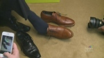 Finance Minister shoes