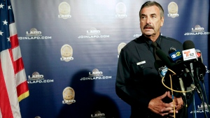 In this Oct. 4, 2016, file photo, Los Angeles Police Chief Charlie Beck speaks during a news conference in Los Angeles. (Nick Ut, File/AP Photo)