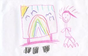 Weather art by Sammi, age 5.