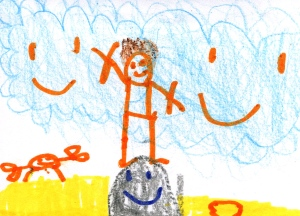 Weather art by Michael, age 7, from Lord Robertson Elementary School.