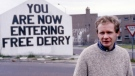 In this July 1984 file photo Martin McGuinness, Sinn Fein politician and a former Brigade Commander of the IRA poses for a photo in Londonderry, Northern Ireland. (AP Photo/Peter Kemp)