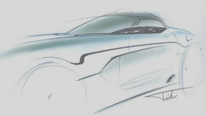 A sketch of the Force 1 V10 Roadster is seen in this provided image. © VLF Automotive